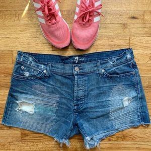 7 FOR ALL MANKIND | Josefina Stretch Denim Shorts